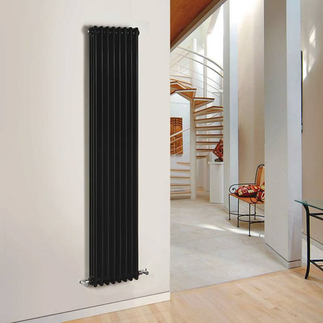 radiateur vertical noir