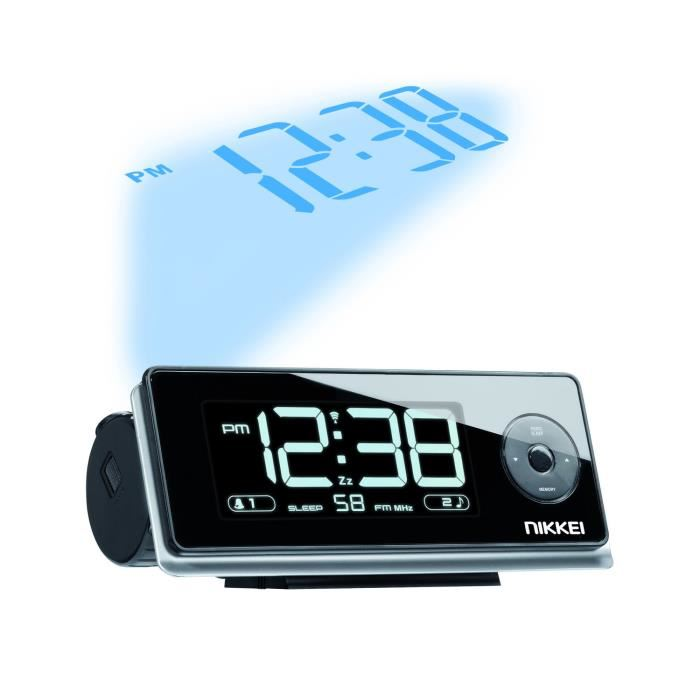radio reveil usb projection