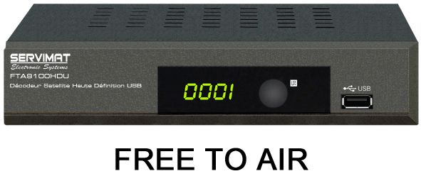 recepteur satellite free to air