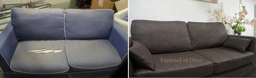 recouvrir un canapé en tissu