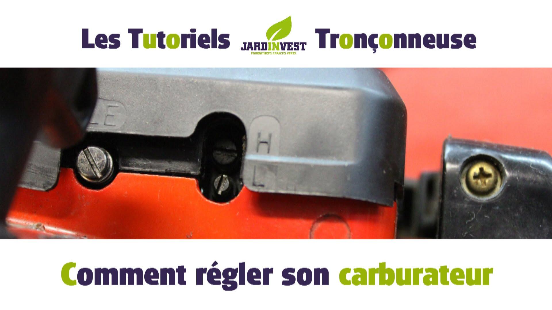 reglage carburateur tronconneuse husqvarna 136