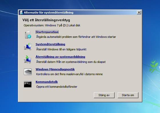 reparer windows 7