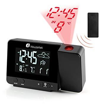 reveil avec projection de l'heure et temperature