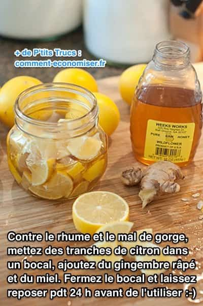 rhume miel