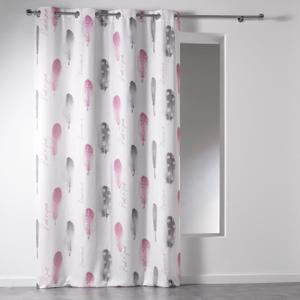 rideau blanc et rose