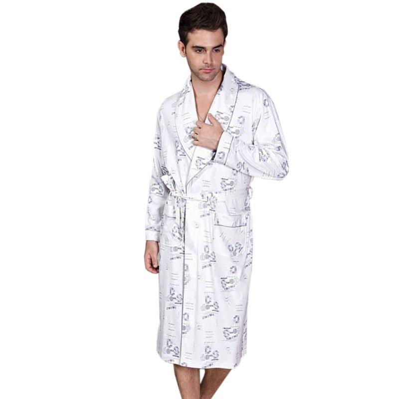 robe de chambre coton homme