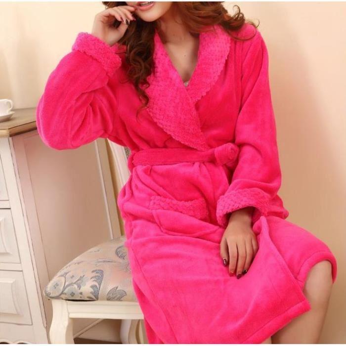robe de chambre femme rose