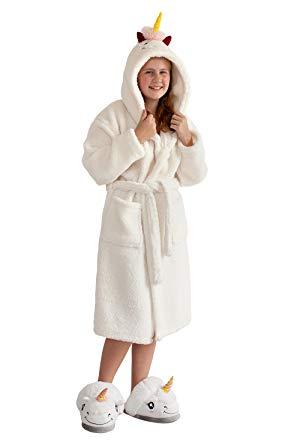 robe de chambre licorne femme
