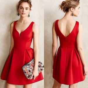robe de cocktail rouge pas cher