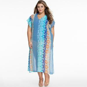 robe de plage longue grande taille