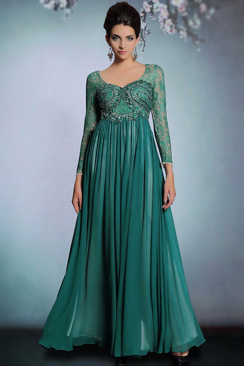 robe de soirée en mousseline longue