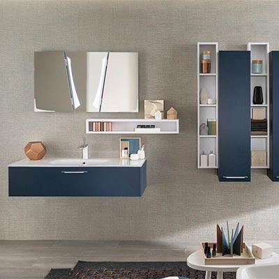 salle de bain meuble bleu