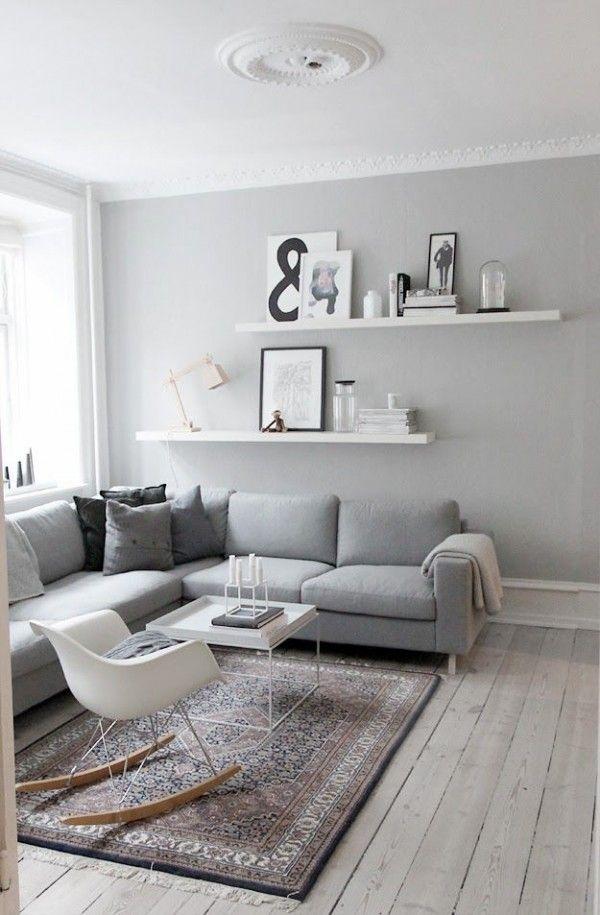 salon scandinave gris