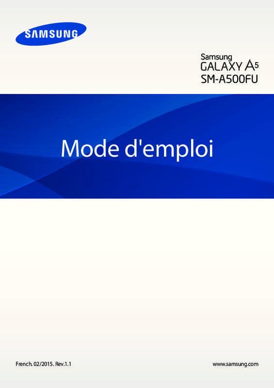 samsung galaxy mode emploi