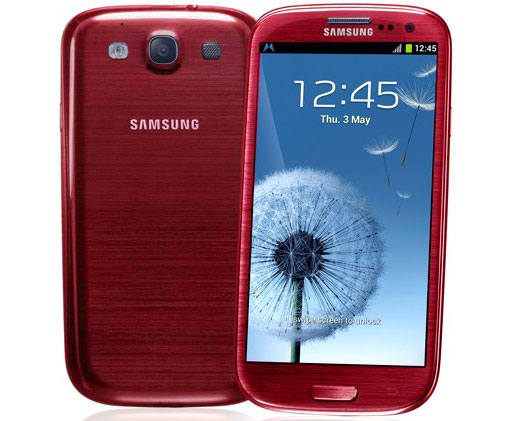 samsung galaxy s3 rouge