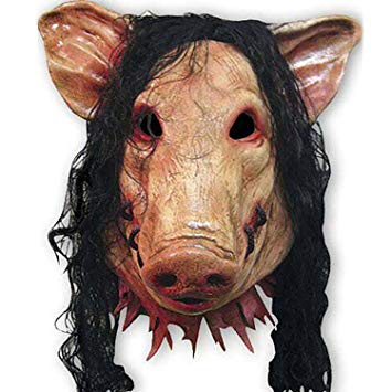 saw masque cochon