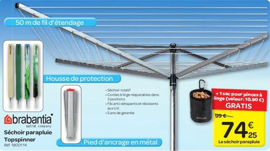 sechoir brabantia parapluie