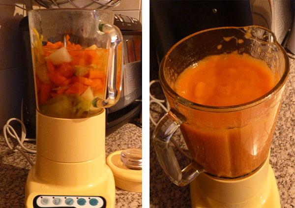 soupe au blender