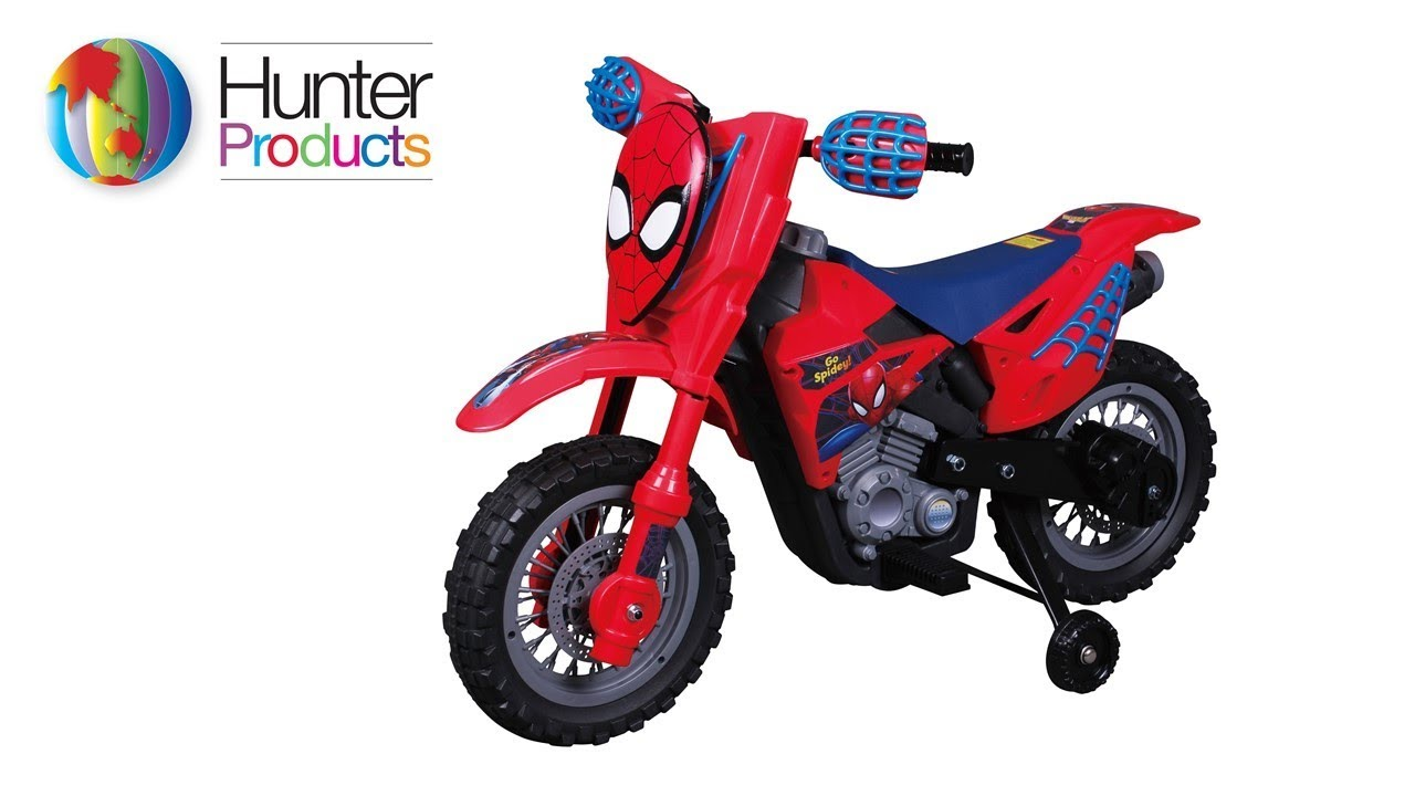 spiderman moto cross