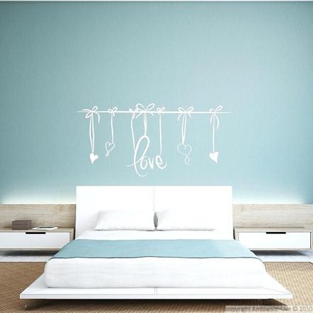 sticker mural tete de lit