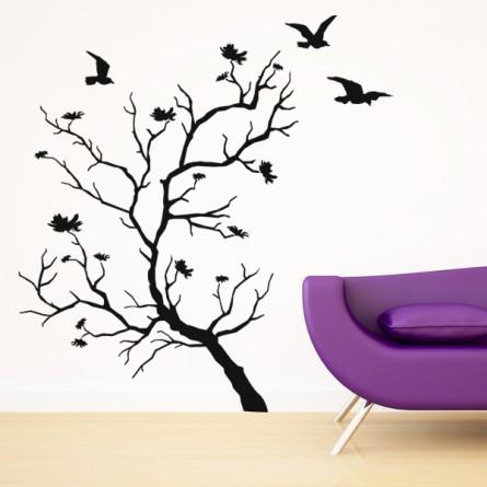 stickers arbre oiseaux