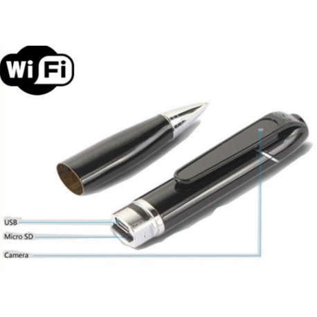 stylo camera espion wifi