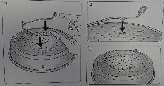 support panier vapeur seb