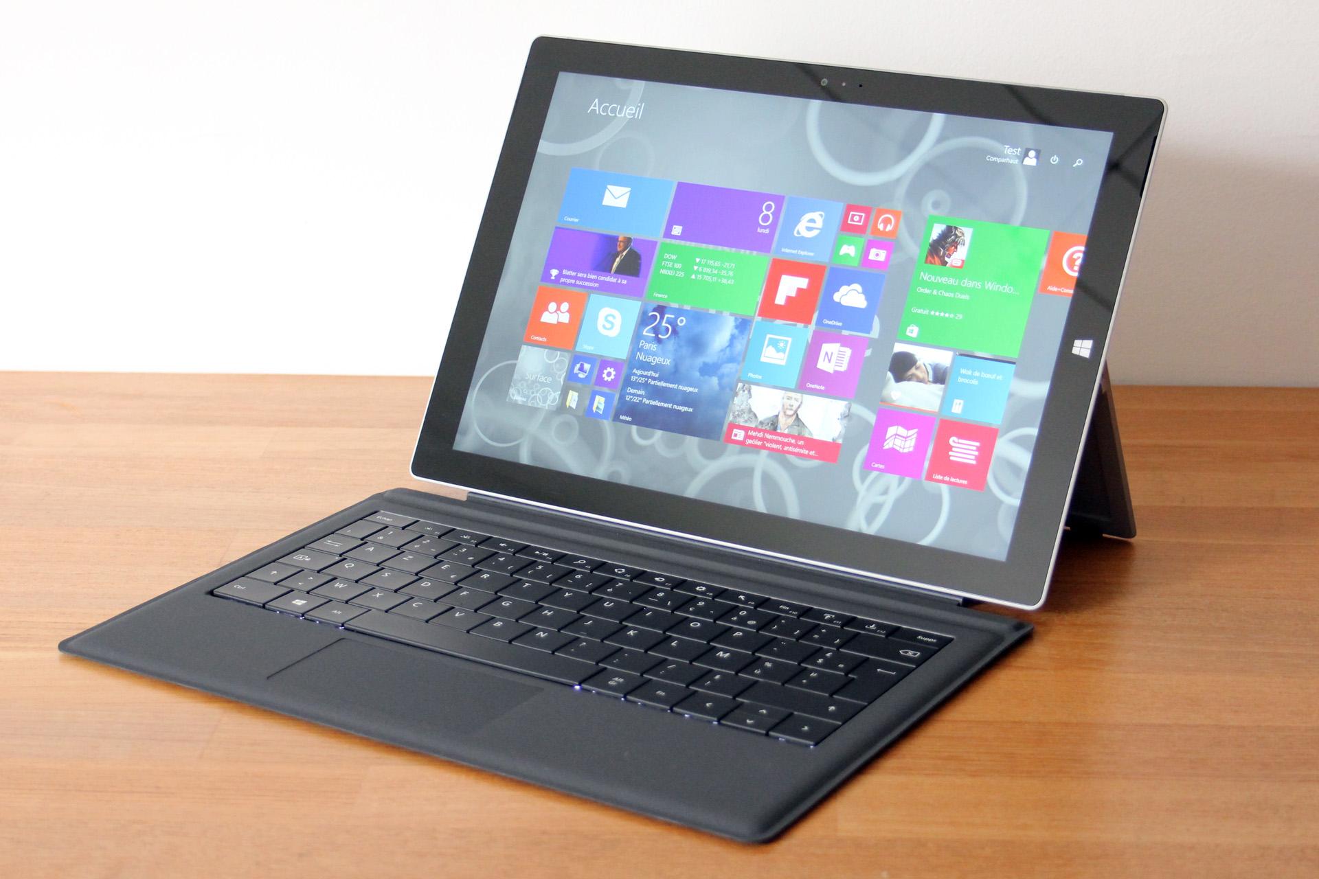 surface 3 avec clavier