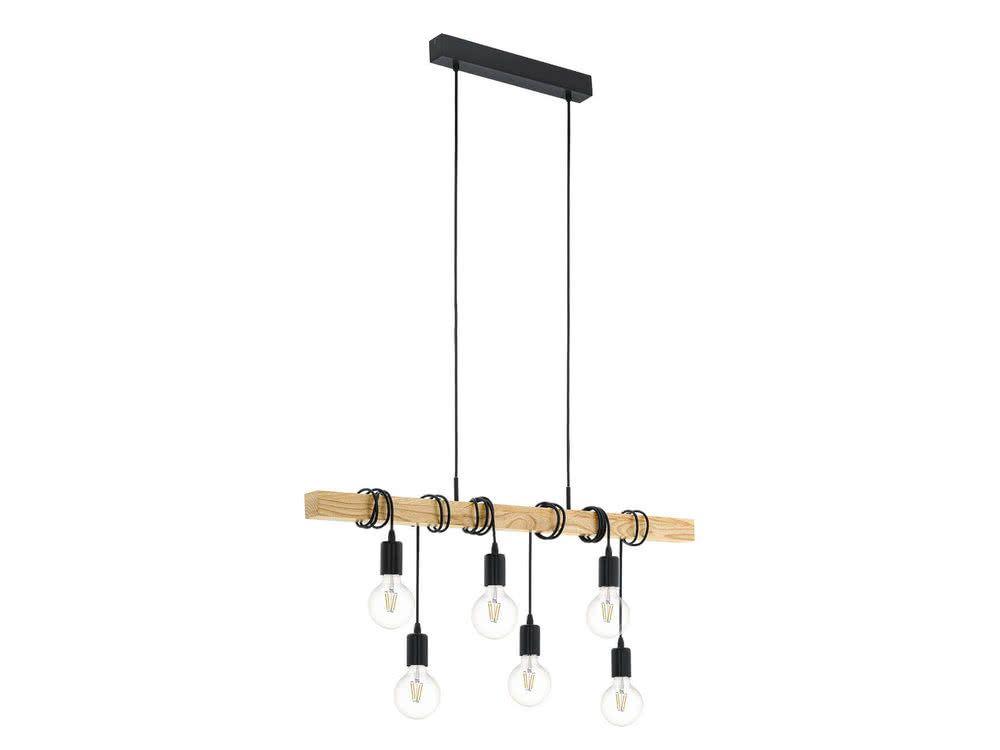 suspension barre bois