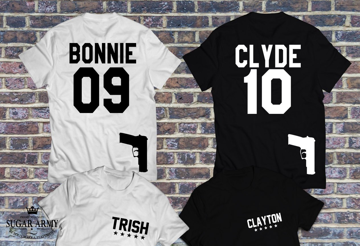 t shirt couple bonnie and clyde