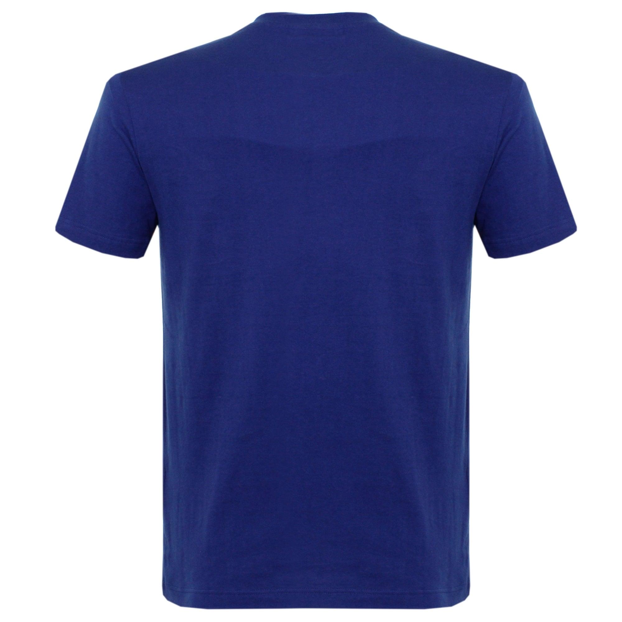 t shirt lacoste bleu