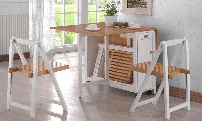 table de cuisine pliante avec chaises