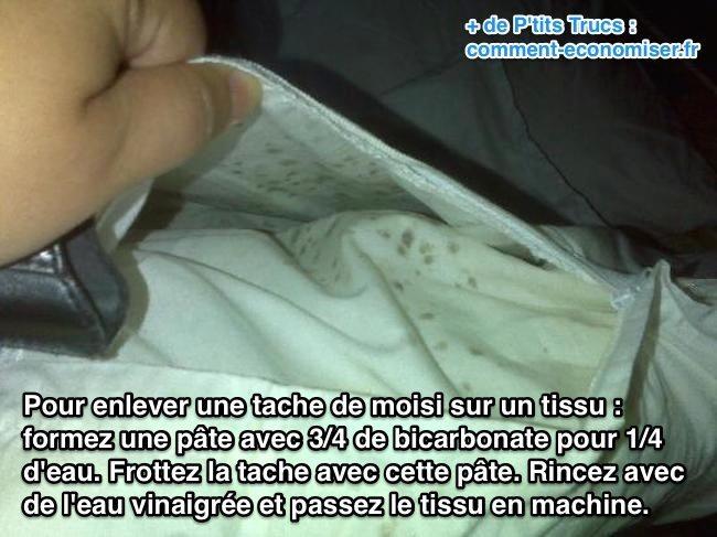 taches de moisissure sur tissu