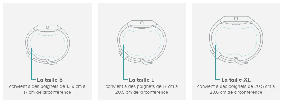 taille bracelet fitbit charge 2