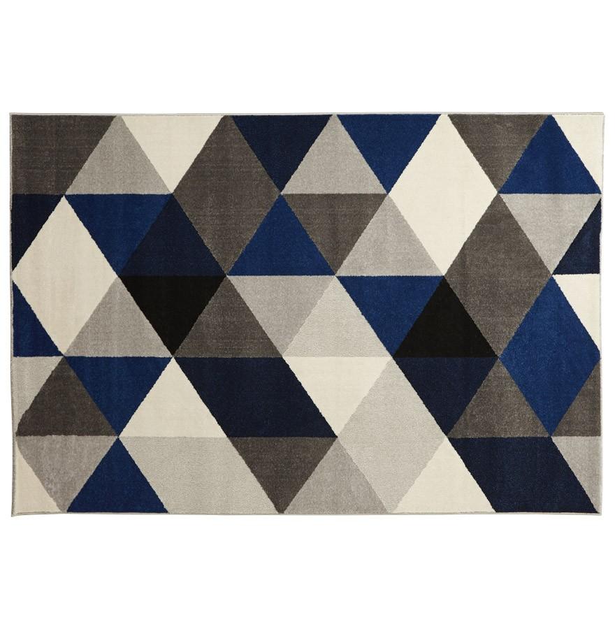 tapis design bleu