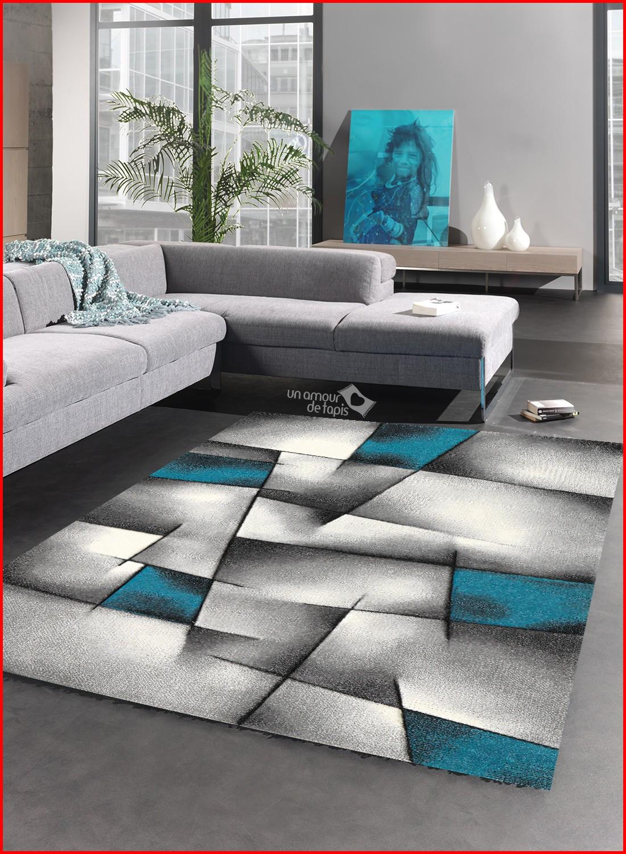 tapis salon gris bleu