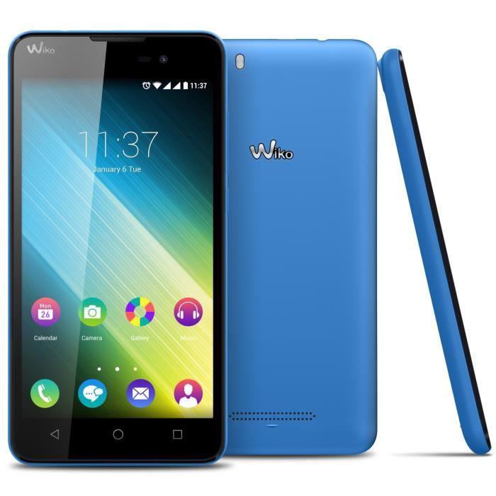 telephone wiko bleu