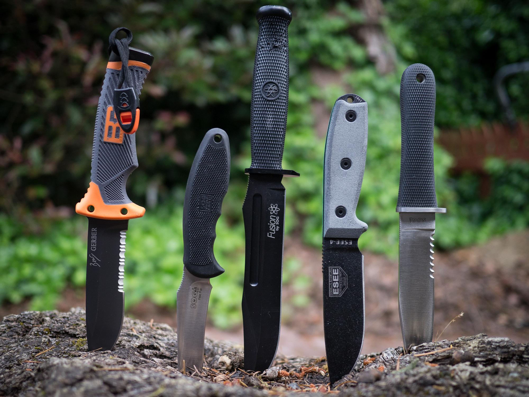 test couteau survie
