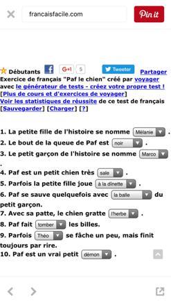 test de français facile