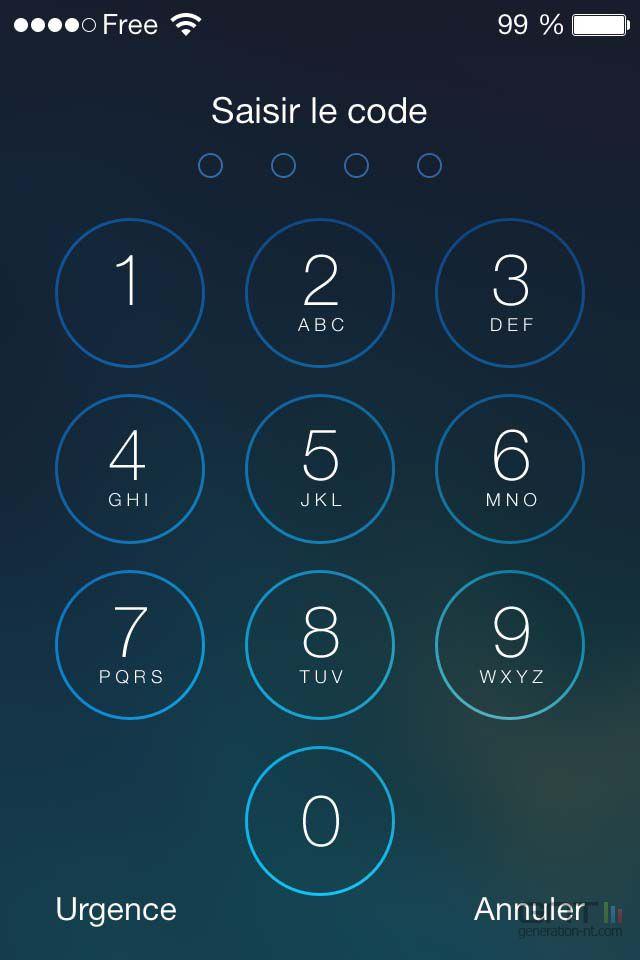 verrouillage iphone