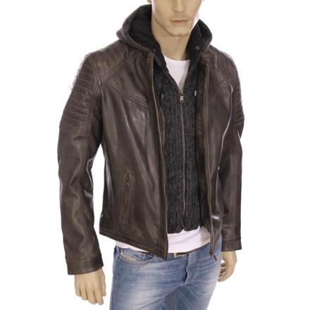 veste en cuir homme redskins