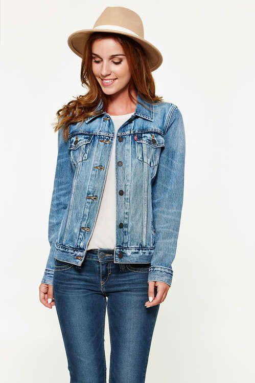 veste en jean femme levis