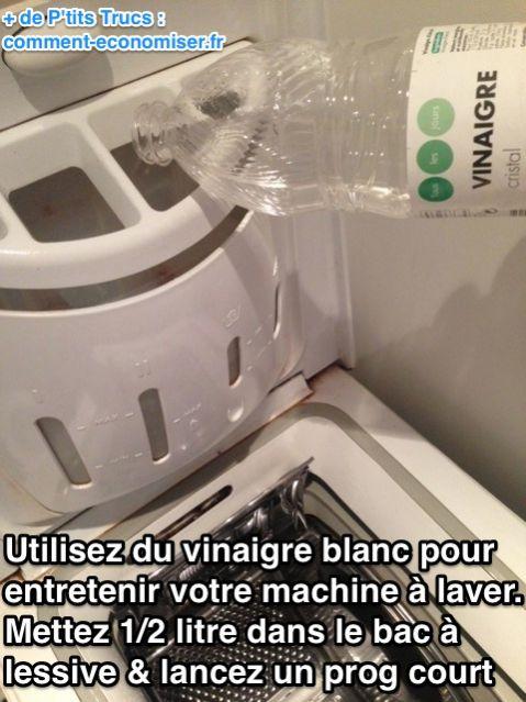 vinaigre blanc machine a laver